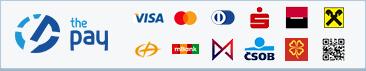 ThePay – Platba kartou, Platba24, MojePlatba, eKonto, mPeníze, MONETA, ČSOB, QR platba