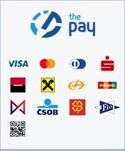 ThePay – Platba24, MojePlatba, eKonto, mPeníze, MONETA, ČSOB, Fio Banka, Equa Bank, superCASH, Sberbank, QR platba