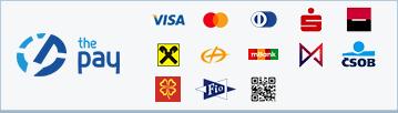 ThePay – Platba kartou, Platba24, MojePlatba, eKonto, mPeníze, MONETA, ČSOB, Fio Banka, Equa Bank, superCASH, Sberbank, QR platba