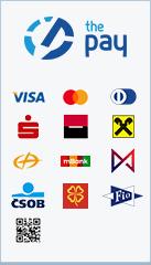ThePay – Platba kartou, Platba24, MojePlatba, eKonto, mPeníze, Ge Money, ČSOB, Fio Banka, QR platba, superCASH
