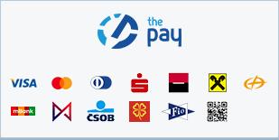 ThePay – Platba kartou, Platba24, MojePlatba, eKonto, mPeníze, MONETA, ČSOB, Equa Bank, superCASH, Sberbank, QR platba