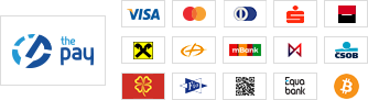 ThePay – Platba kartou, Platba24, eKonto, mPeníze, MONETA, ČSOB, Fio Banka, Equa Bank, superCASH, Sberbank, QR platba