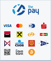 ThePay – Platba kartou, Platba24, MojePlatba, eKonto, mPeníze, MONETA, ČSOB, Fio Banka, QR platba, Equa Bank, superCASH, Bitcoin