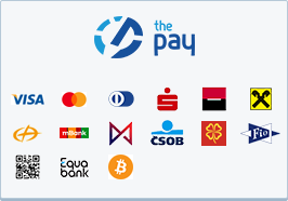 ThePay – Platba kartou, Platba24, MojePlatba, eKonto, mPeníze, MONETA, ČSOB, Fio Banka, QR platba, Equa Bank, Bitcoin