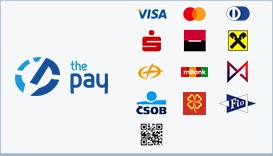 ThePay – Platba24, MojePlatba, eKonto, mPeníze, MONETA, ČSOB, Fio Banka, QR platba, Equa Bank, Bitcoin