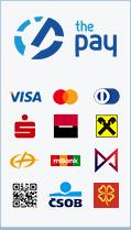 ThePay – Platba24, MojePlatba, eKonto, mPeníze, Ge Money, ČSOB, Fio Banka, Equa Bank, superCASH, Sberbank, QR platba