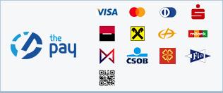 ThePay – Platba kartou, eKonto, mPeníze, MONETA, ČSOB, Fio Banka, Sberbank, QR platba